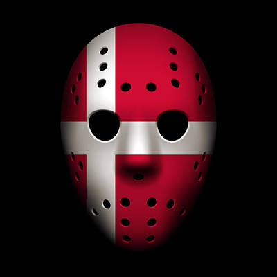 Photograph - Denmark Goalie Mask by Joe Hamilton