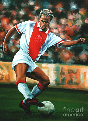 League Painting - Dennis Bergkamp 2 by Paul Meijering