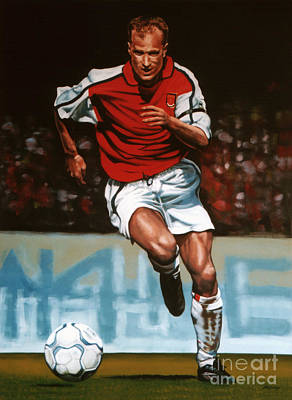 Dutch Painting - Dennis Bergkamp by Paul Meijering