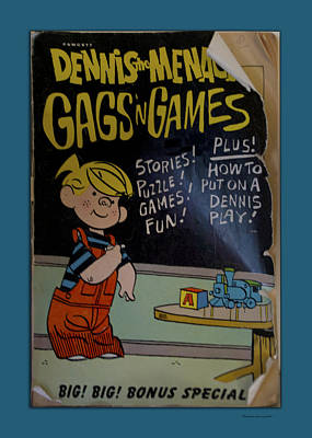 Dennis The Menace Gags N Games Book Art Print by Thomas Woolworth
