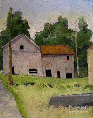 Old Mills Painting - Denniston Mill Remnant Race by Charlie Spear