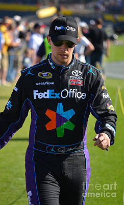 Photograph - Denny Hamlin by Mark Spearman