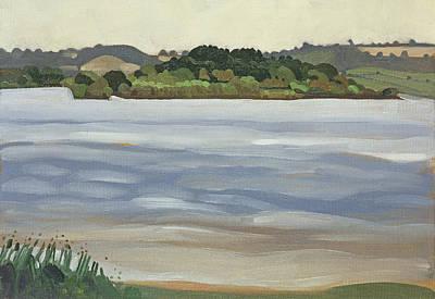 Denny Island, Chew Valley Lake Oil On Board Art Print