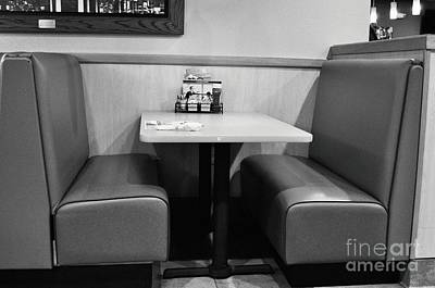 Photograph - Denny's Booth by Andres LaBrada