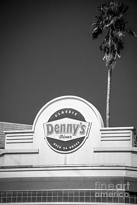 Denny's Key West - Black And White Art Print by Ian Monk