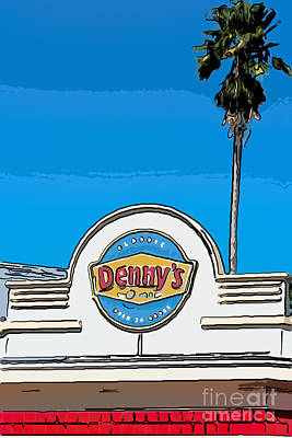 Multi Colored Digital Art - Denny's Key West - Digital by Ian Monk