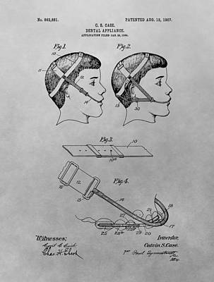Wisdom Drawing - Dental Appliance Patent Drawing by Dan Sproul