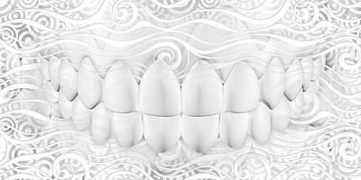 Dental Art For Dentist Art Print