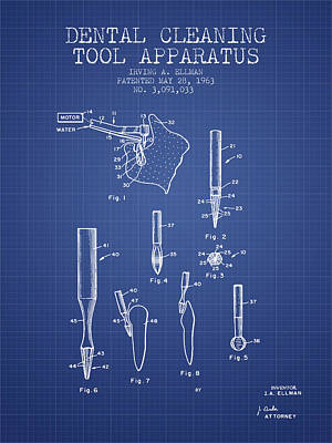 Dental drill art fine art america dental drill wall art digital art dental cleaning tool apparatus patent from 1963 malvernweather Image collections