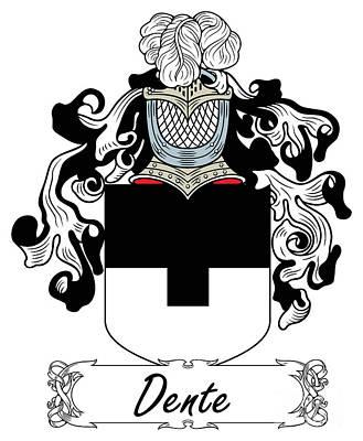 Dente Coat Of Arms Italian Art Print
