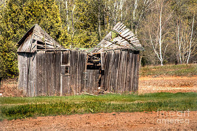 Photograph - Dented Barn by Deborah Smolinske