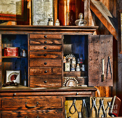 Dentist - A Place For Dental Tools Print by Paul Ward