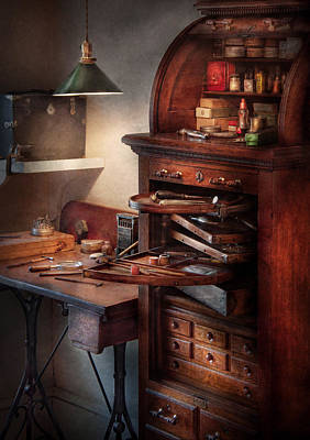 Photograph - Dentist - Lab - Dental Workstation by Mike Savad