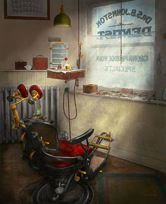Photograph - Dentist - Sb Johnston Dentist 1919 by Mike Savad