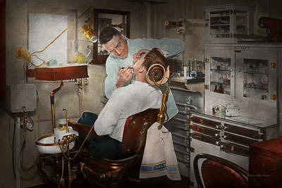 Photograph - Dentist - The Dental Examination - 1943 by Mike Savad