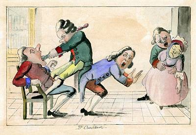 Dentistry Caricature, 18th Century Print by Science Photo Library