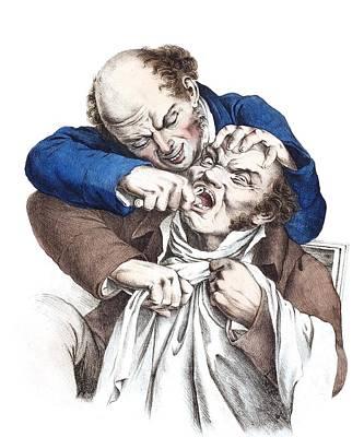 Dentistry Caricature, 19th Century Art Print
