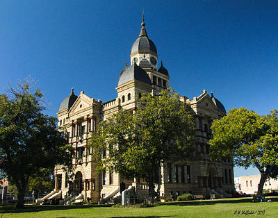Photograph - Denton County Courthouse by Allen Sheffield