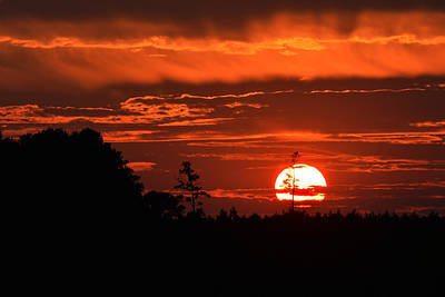 Photograph - Denton Farm Sunset by Bill Swartwout