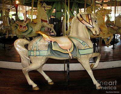 Art Print featuring the photograph Dentzel Menagerie Carousel Horse by Rose Santuci-Sofranko