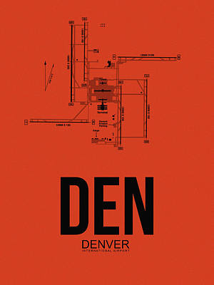 Denver Airport Poster 2 Art Print by Naxart Studio
