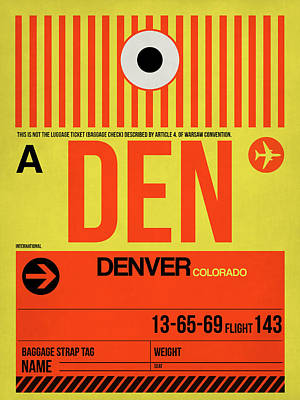 Denver City Wall Art - Digital Art - Denver Airport Poster 3 by Naxart Studio