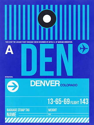 Travel Digital Art - Denver Airport Poster 4 by Naxart Studio