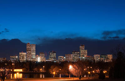 Photograph - Denver At Twilight  by Eric Rundle