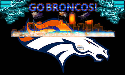 Elway Digital Art - Denver Broncos 3 by Becca Buecher