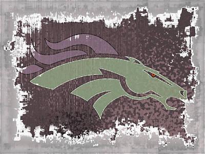 Denver Broncos Abstract Art Print
