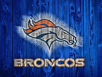 Denver Broncos Barn Door Art Print by Dan Sproul