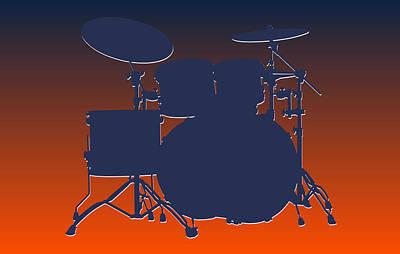 Drum Sets Photograph - Denver Broncos Drum Set by Joe Hamilton