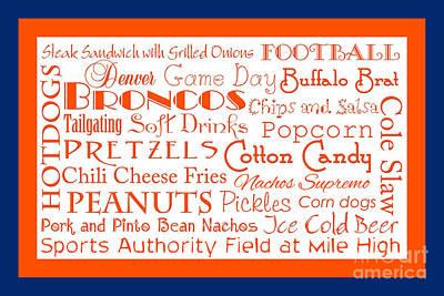Digital Art - Denver Broncos Game Day Food 2 by Andee Design