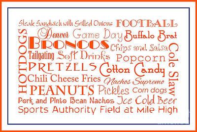 Digital Art - Denver Broncos Game Day Food 3 by Andee Design