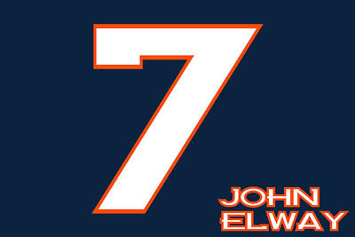 Elway Photograph - Denver Broncos John Elway by Joe Hamilton