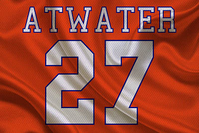 Atwater Photograph - Denver Broncos Steve Atwater by Joe Hamilton