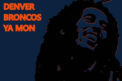 Denver Broncos Ya Mon Art Print