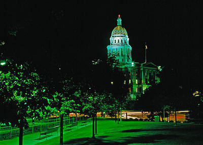 Photograph - Denver Capitol Building by Posters of Colorado