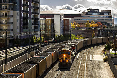 Photograph - Denver Cargo Train by For Ninety One Days
