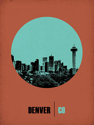 Denver City Wall Art - Digital Art - Denver Circle Poster 1 by Naxart Studio