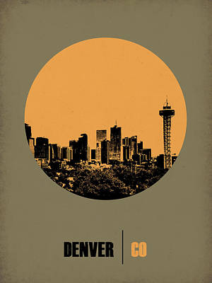 Nostalgic Digital Art - Denver Circle Poster 2 by Naxart Studio