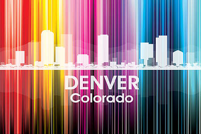 Digital Art - Denver Co 2 by Angelina Vick