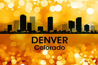 Digital Art - Denver Co 3 by Angelina Vick