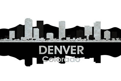 Digital Art - Denver Co 4 by Angelina Vick