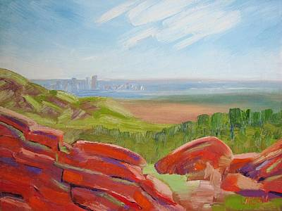 Painting - Denver In The Distance by Margaret Bobb