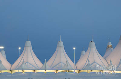 Concourse Photograph - Denver International Airport At Dusk by Juli Scalzi