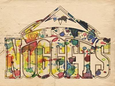 Painting - Denver Nuggets Poster Art by Florian Rodarte