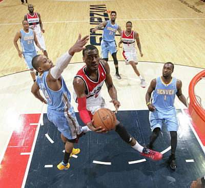 Photograph - Denver Nuggets V Washington Wizards by Ned Dishman