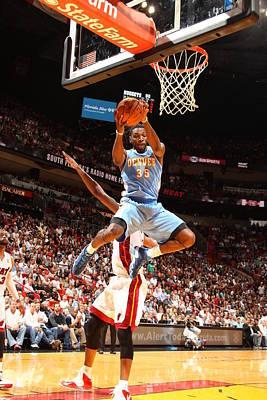 Photograph - Denver Nuggets Vs Miami Heat by Issac Baldizon