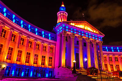 Denver Orange And Blue Pride Original by Teri Virbickis